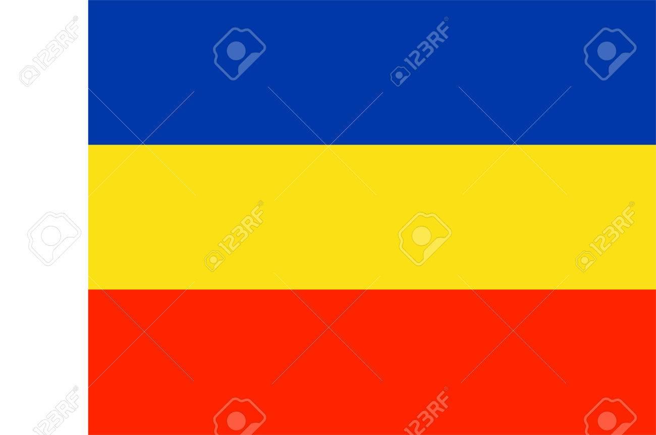 Rostov Oblast flag vector. Russian federation. Rostov on Don..