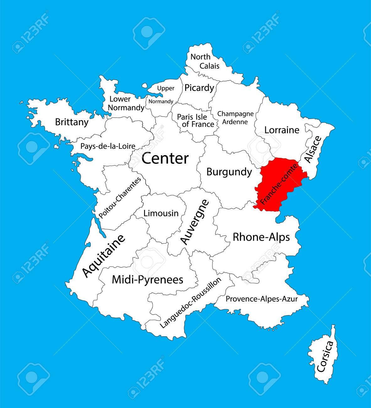 Regiune Burgundia-Franche-Comté, Franța - Orașe și sate în lume