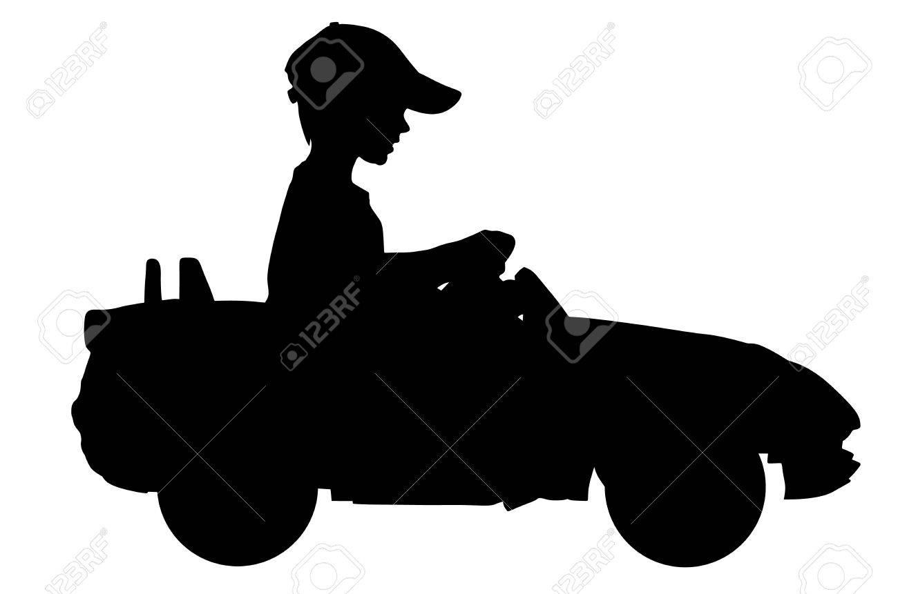 La traction Citroën  dans les gendarmeries .... 83834453-petit-gar%C3%A7on-au-volant-de-la-voiture-mini-silhouette-silhouette-illustration-enfant-avec-une-voiture-d