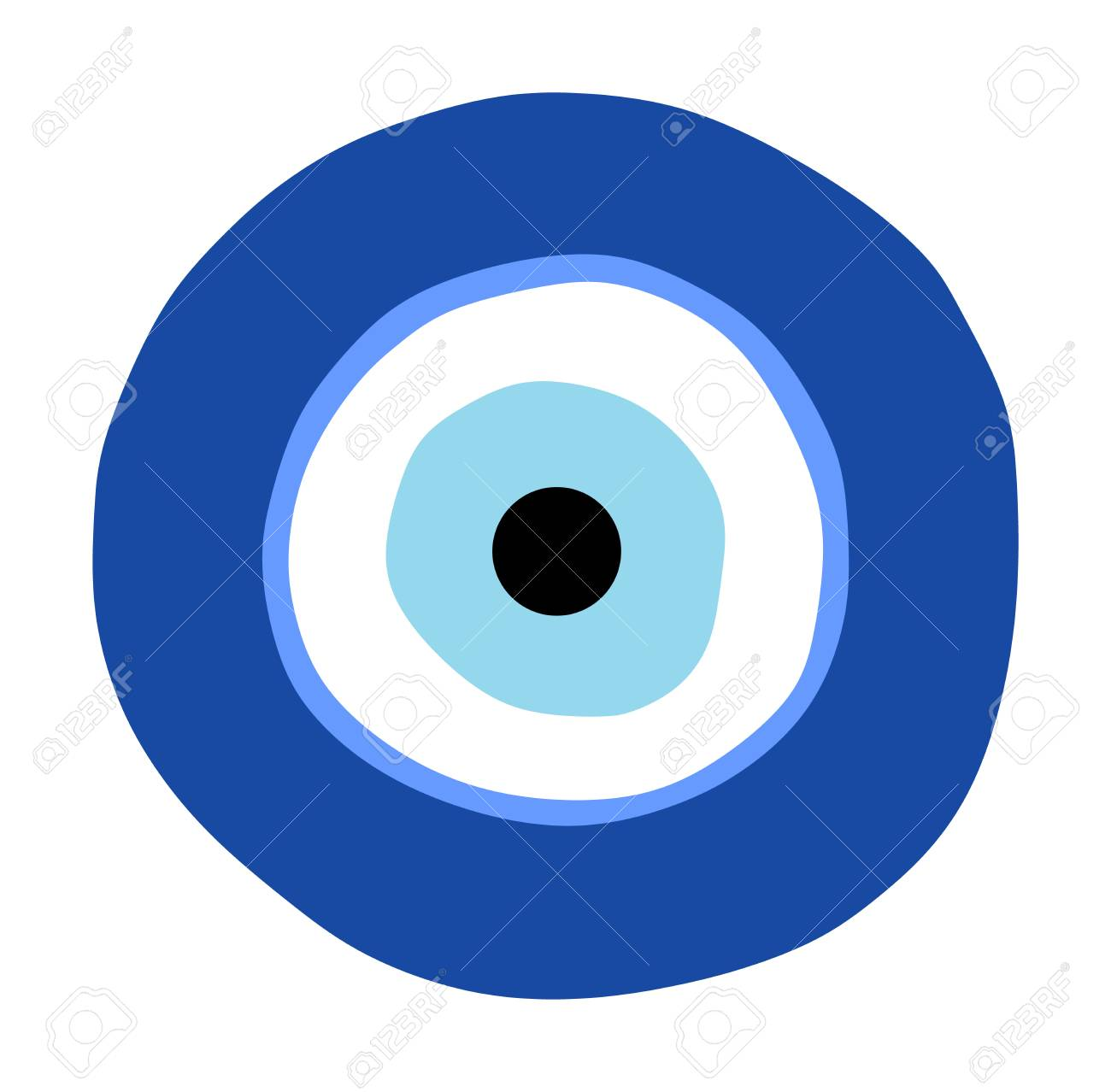 Greek evil eye vector, symbol of protection  Glass Turkish eye