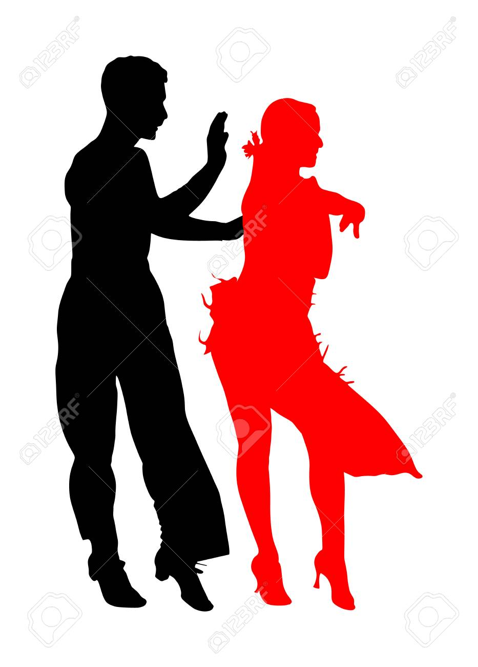 Elegance Tango Latino Dancers Vector Silhouette Isolated On White Royalty Free Cliparts Vectors And Stock Illustration Image 119486008