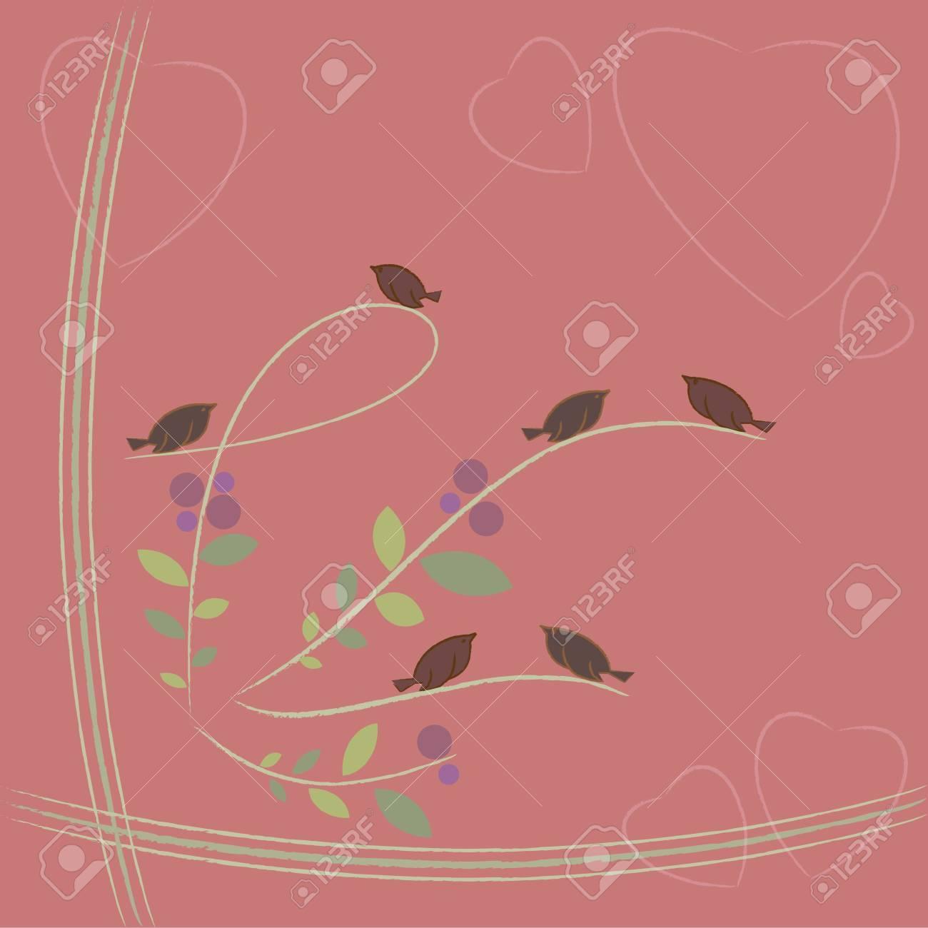 lovely birds Stock Vector - 12022404