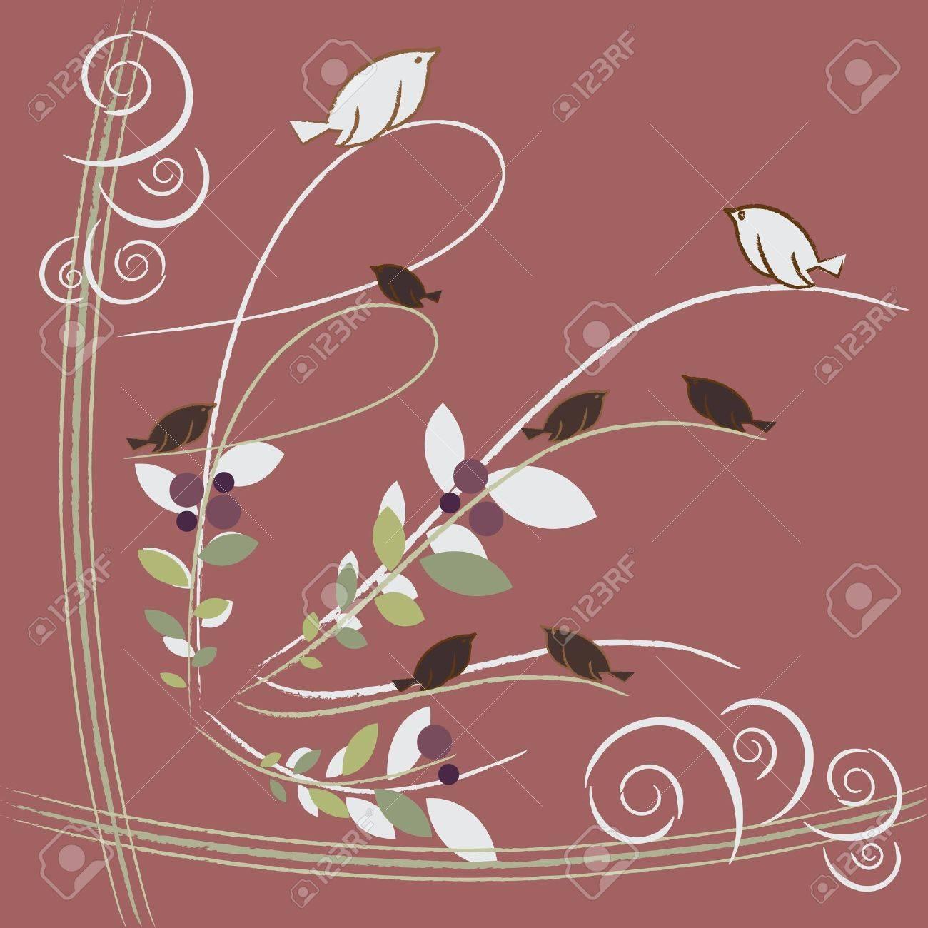 lovely birds Stock Vector - 12484537