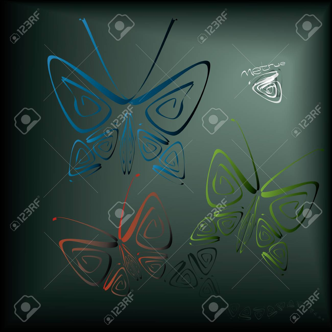 when dreams come true is fine image with beautiful butterflies Stock Vector - 12484548