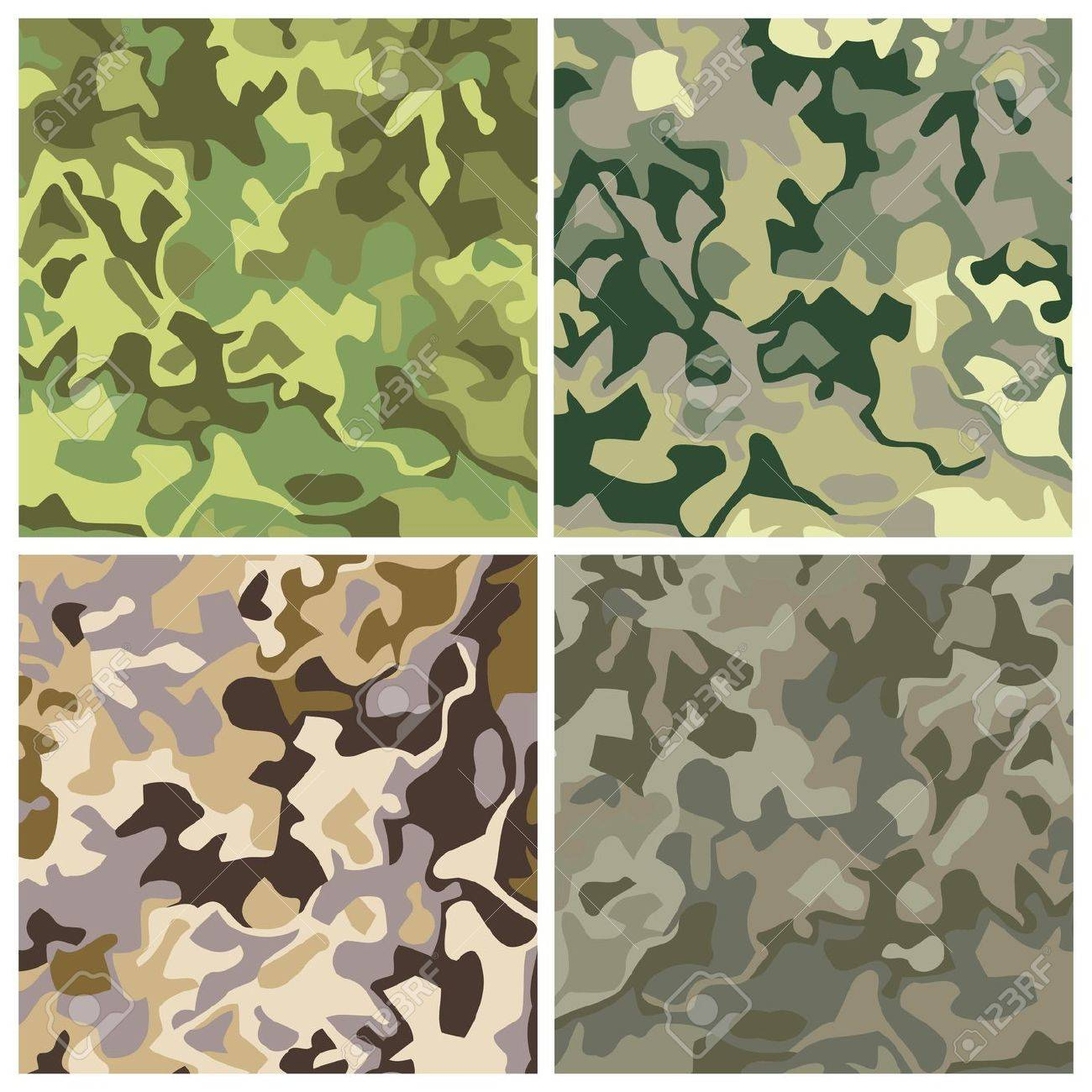 new royalty free set of military camouflage backgrounds Stock Vector - 16195150