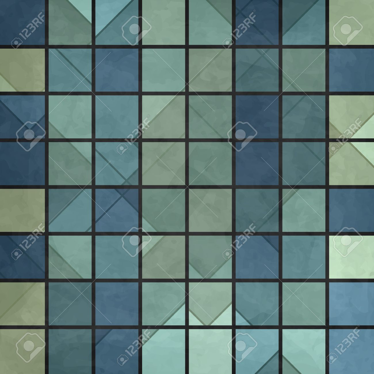 new mosaic pattern with blue squares can use like abstract wallpaper Stock Vector - 17144356