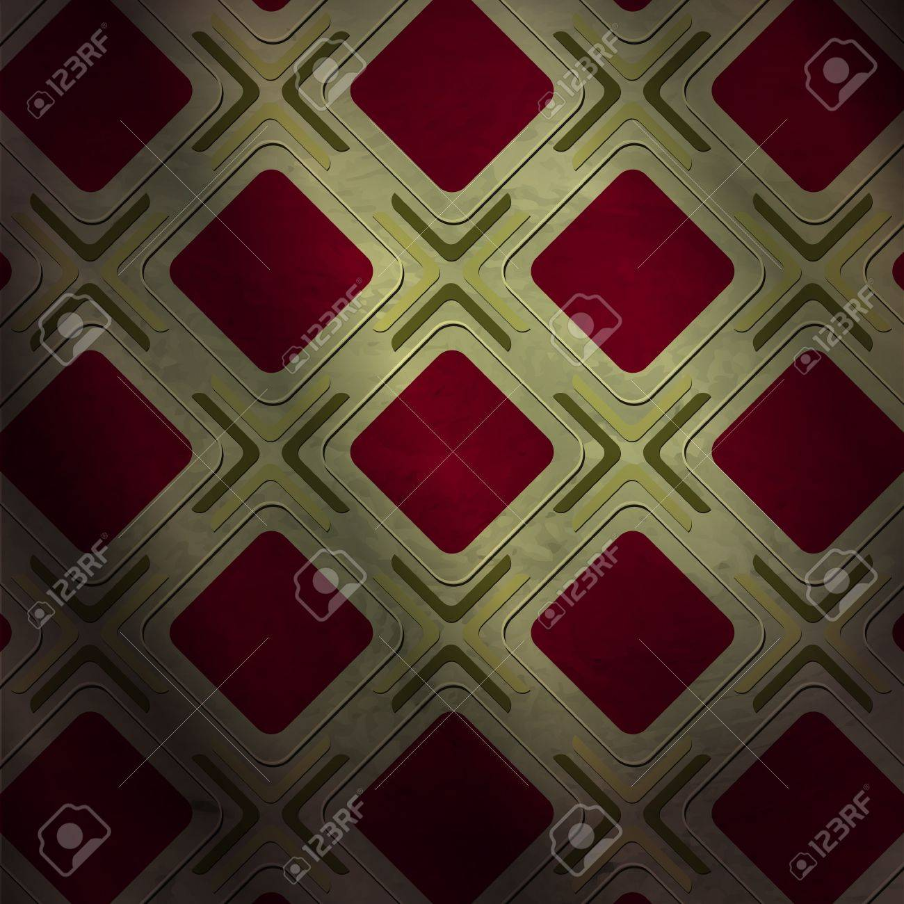 new abstract pattern with red squares can use like vintage style wallpaper Stock Vector - 18687988