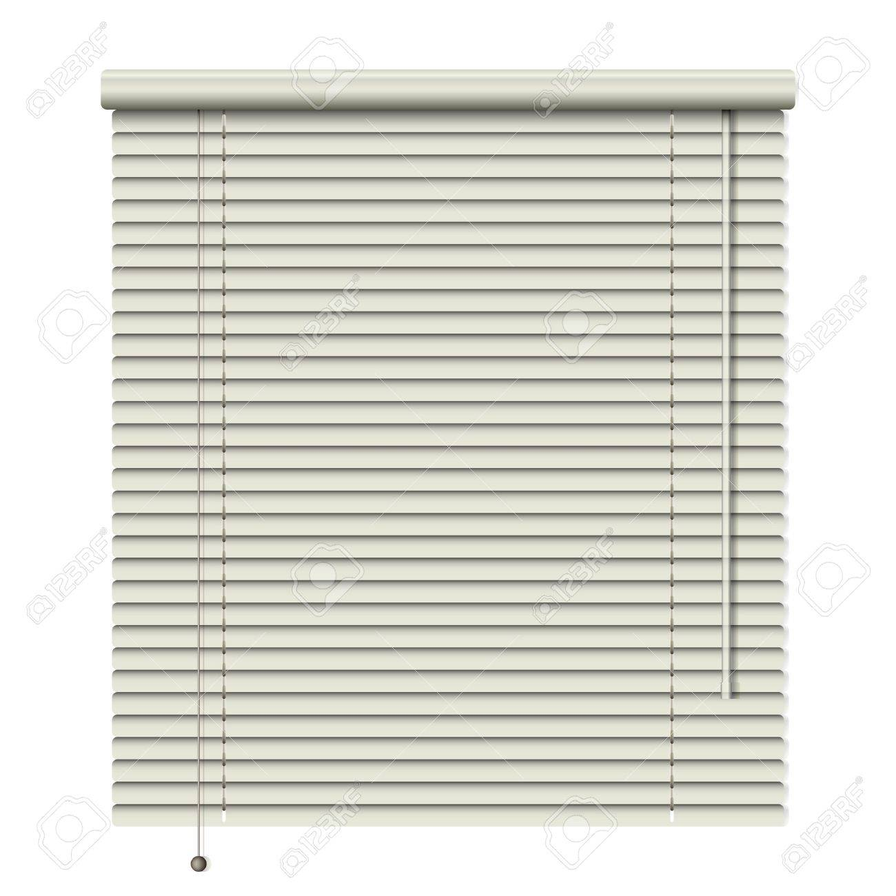 new realistic home related blinds isolated on white background can use like modern object - 19136378