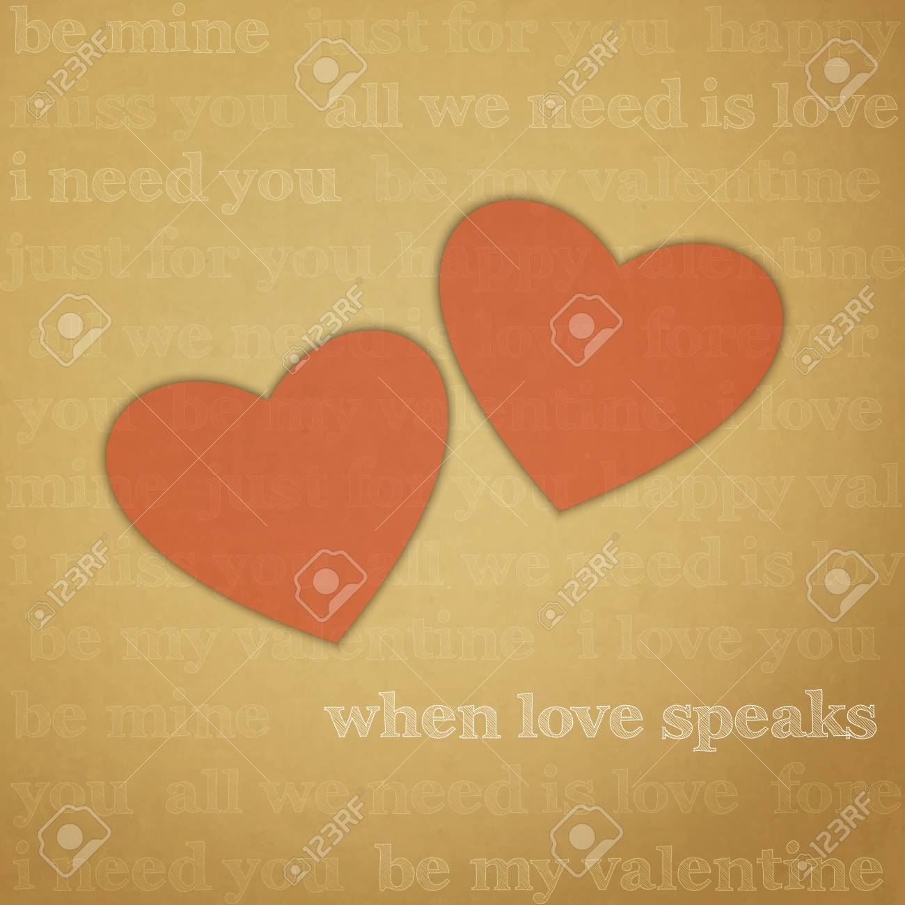 new image with hearts symbols on paper background can use like greeting card Stock Vector - 22479110