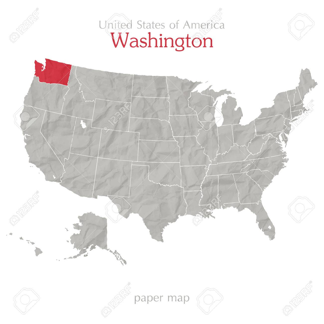 washington and united states of america maps outline stock vector 28257265