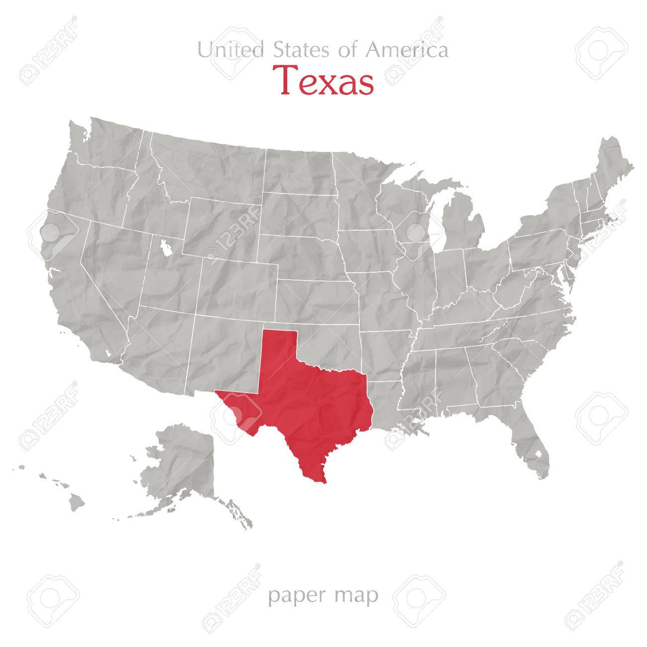 Map Of America Texas.United States Of America Map And Texas Territory On Paper Background