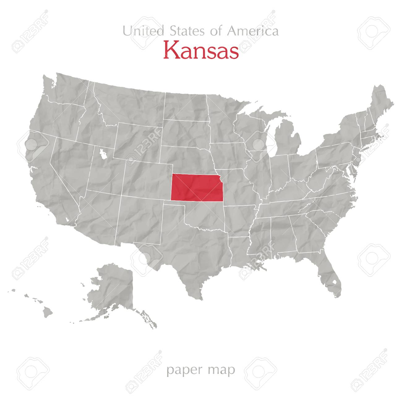 Map Of America Kansas