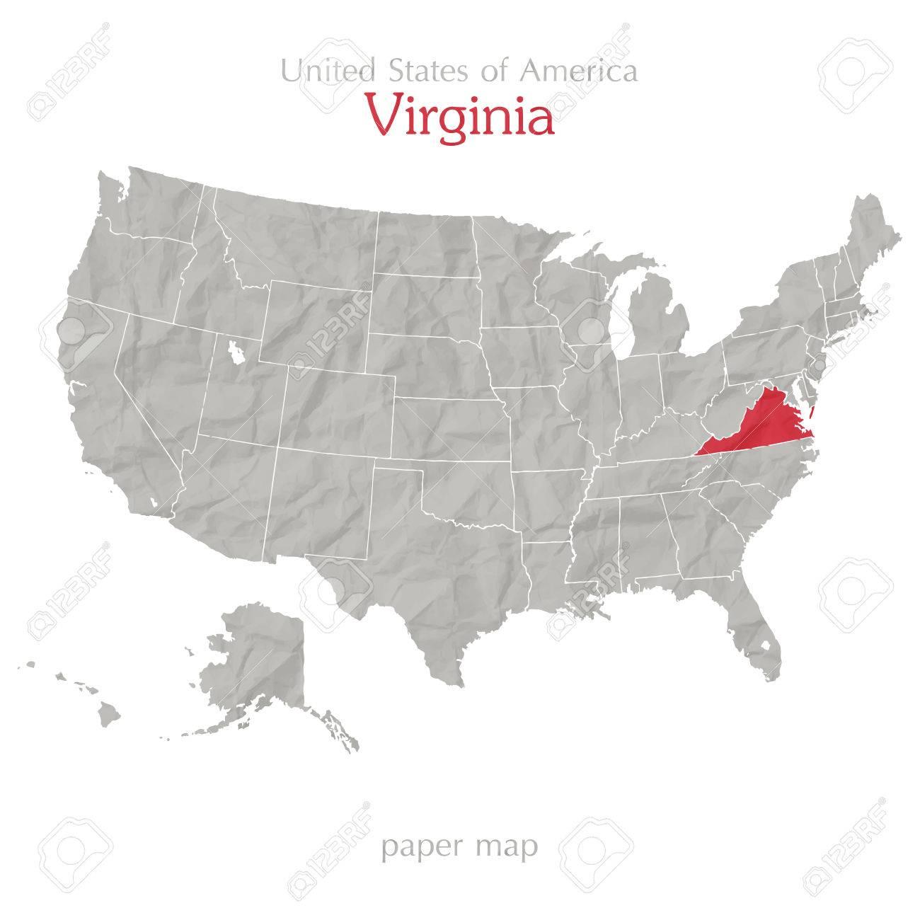 アメリカ合衆国の地図と粗末な紙...