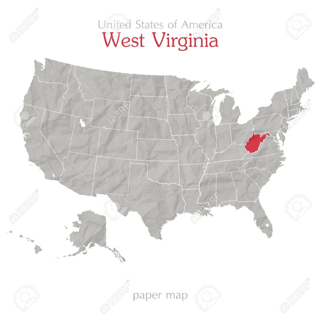 United State Of America Map.United States Of America Map And West Virginia State Territory