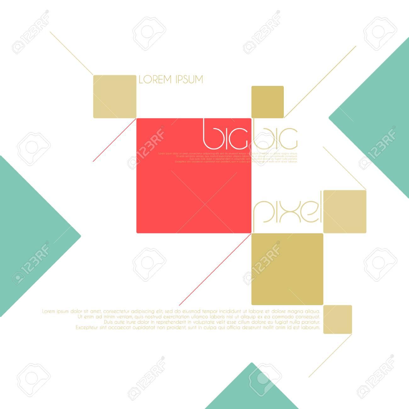 Extracto, Fondo Geométrico Con Marcos De Colores. Web Elementos De ...