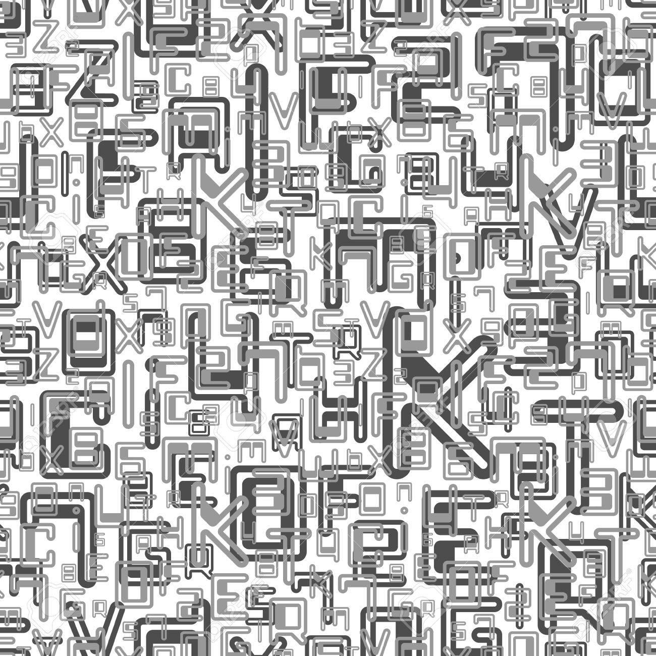Carta Da Parati Lettere Alfabeto.Vettoriale Astratto Senza Soluzione Di Continuita Con Le