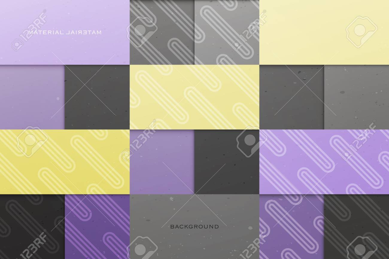 Abstract, Colorful Background With Square Frames. Vector Geometric ...
