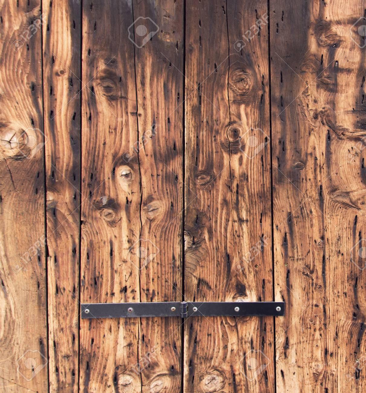 Immagini Stock - Vecchio Sfondo Porta Di Legno. Primo Piano, Rovere ...