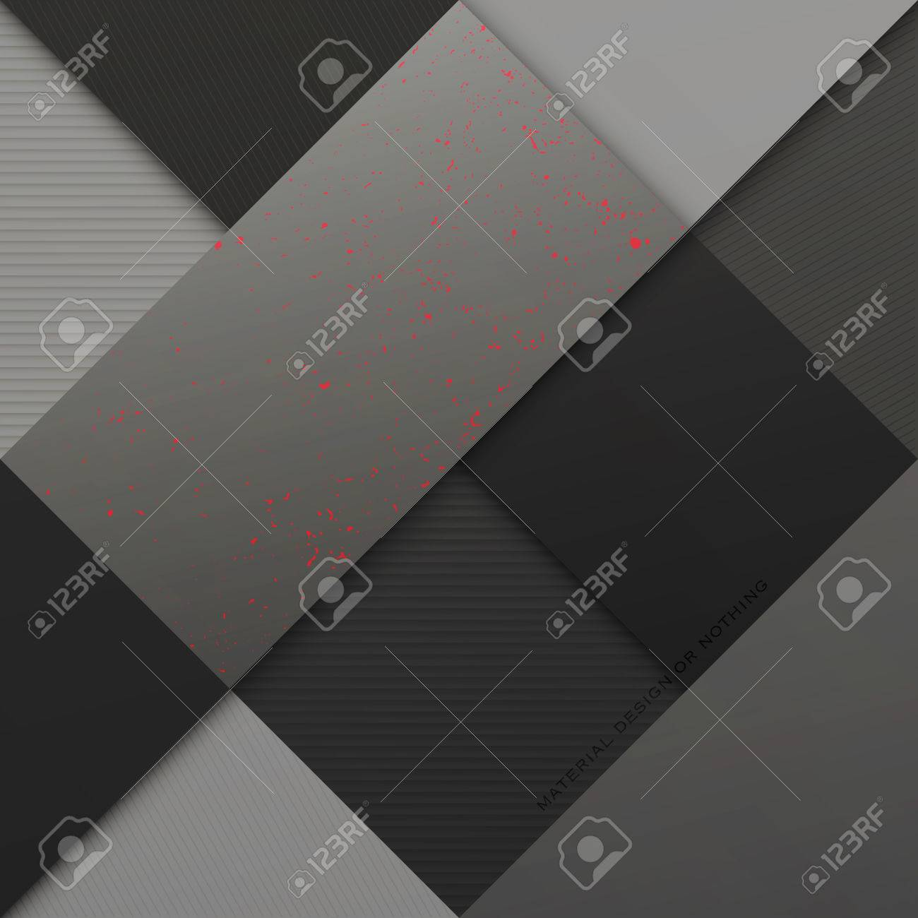 Abstract, Monochrome Background With Square Frames. Vector Geometric ...