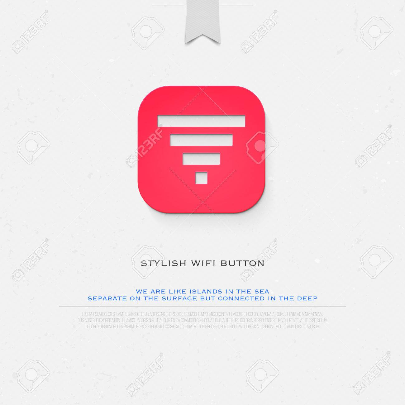 app button style wireless icon and wifi   isolated radio wave