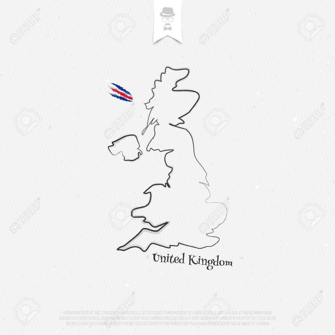 Vereinigtes Königreich Großbritannien Und Nordirland Übersichtskarte ...