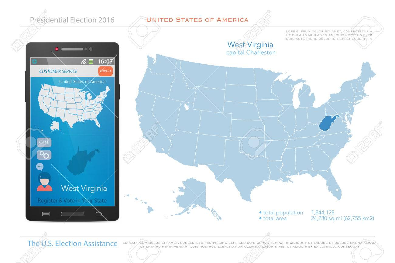 Map Of America Virginia.United States Of America Maps And West Virginia State Territory