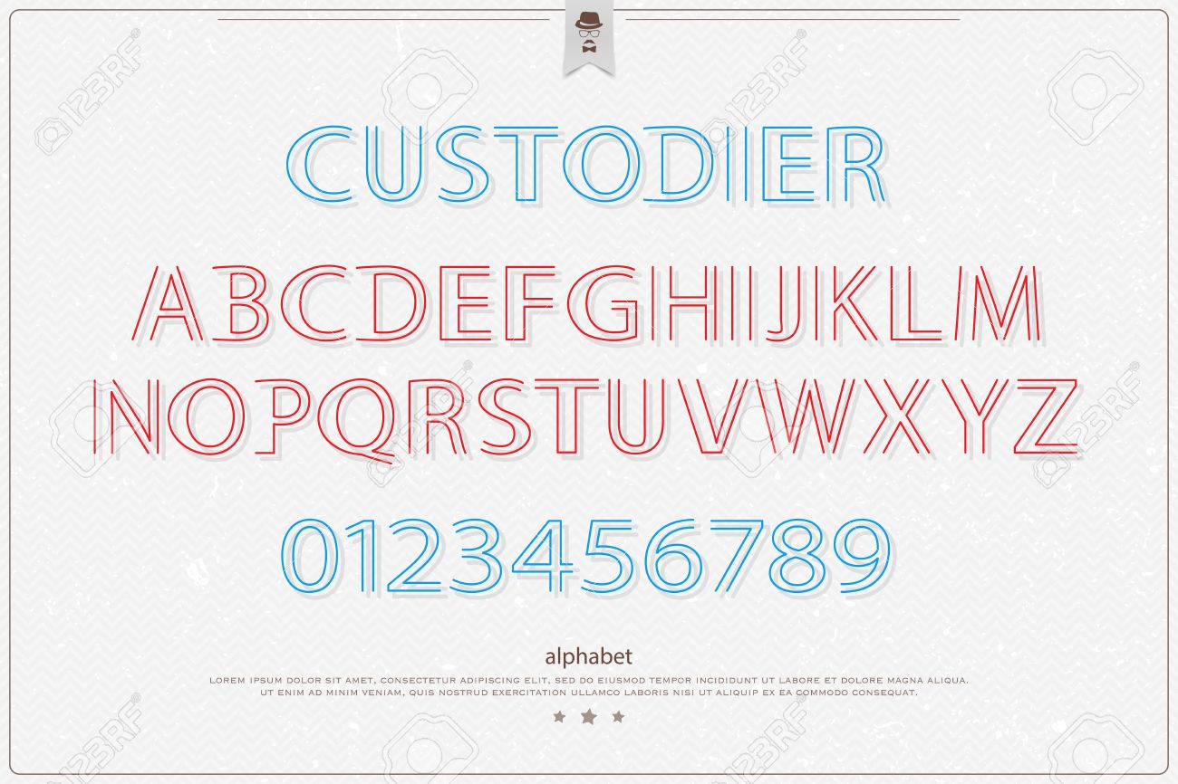 Stylish alphabet letters and numbers over paper texture vector stylish alphabet letters and numbers over paper texture vector font type design modern lettering buycottarizona Gallery