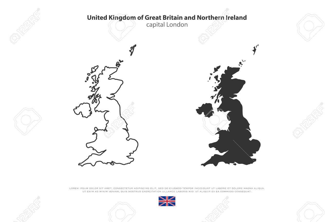 Vereinigtes Königreich Großbritannien Und Nordirland Karte Und ...