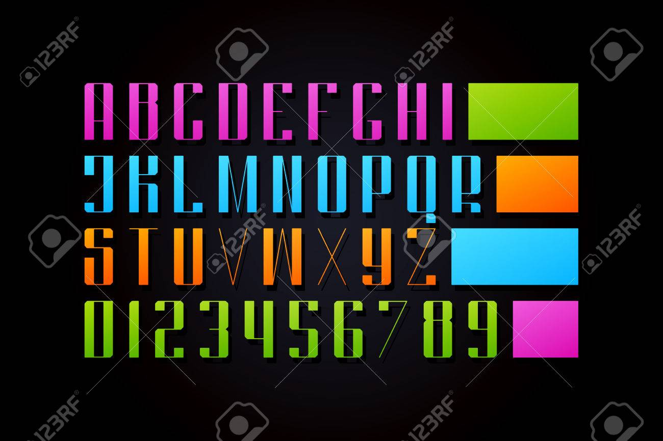 Uppercase alphabet letters and numbers vector font type design uppercase alphabet letters and numbers vector font type design high lettering symbols stylish buycottarizona Gallery