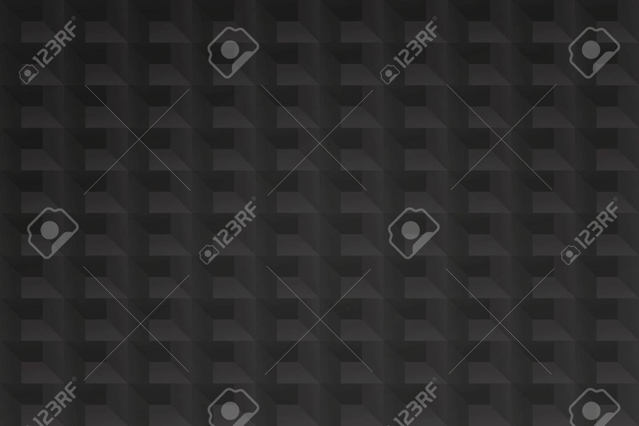 Seamless Pattern With Geometric Structure Vector Black Grid