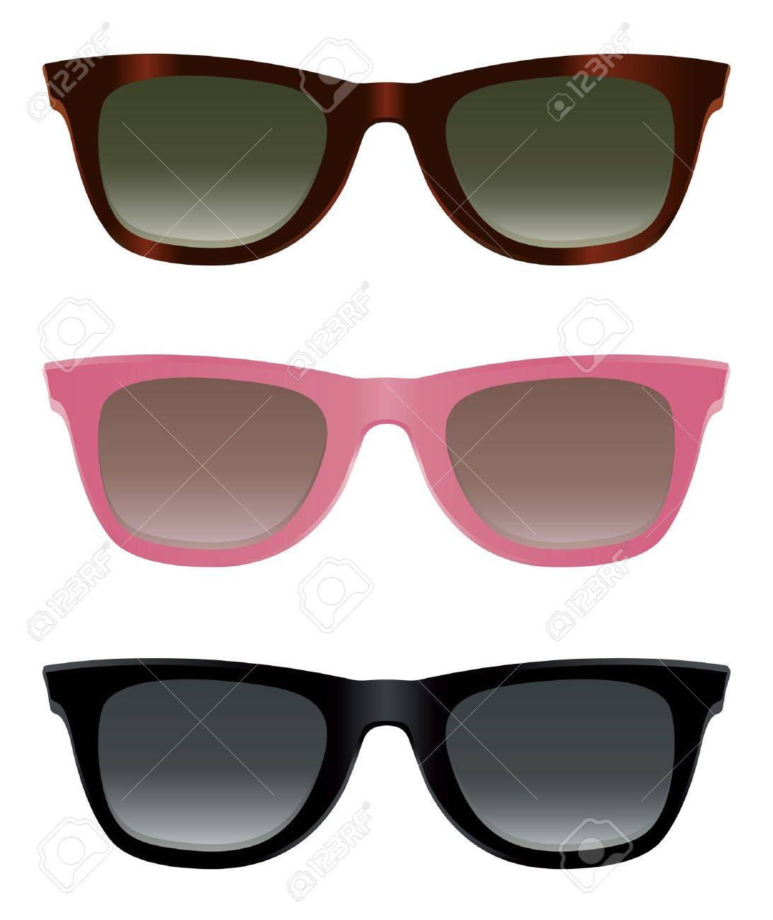 classic sunglasses with turtle shell pink and black frames