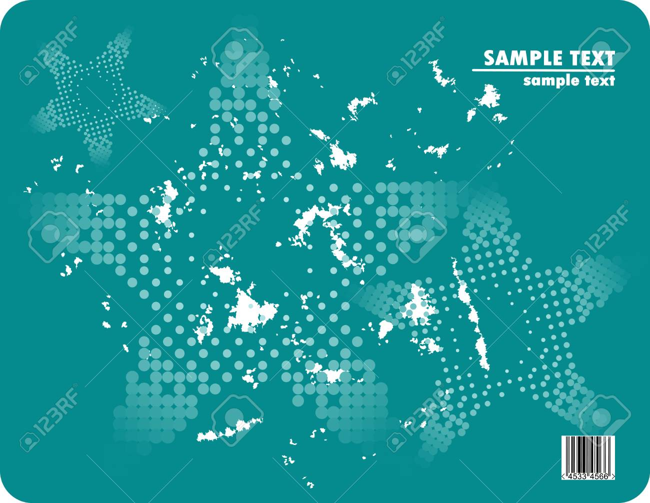 Grungy vector design of dots with barcode Stock Vector - 4537950