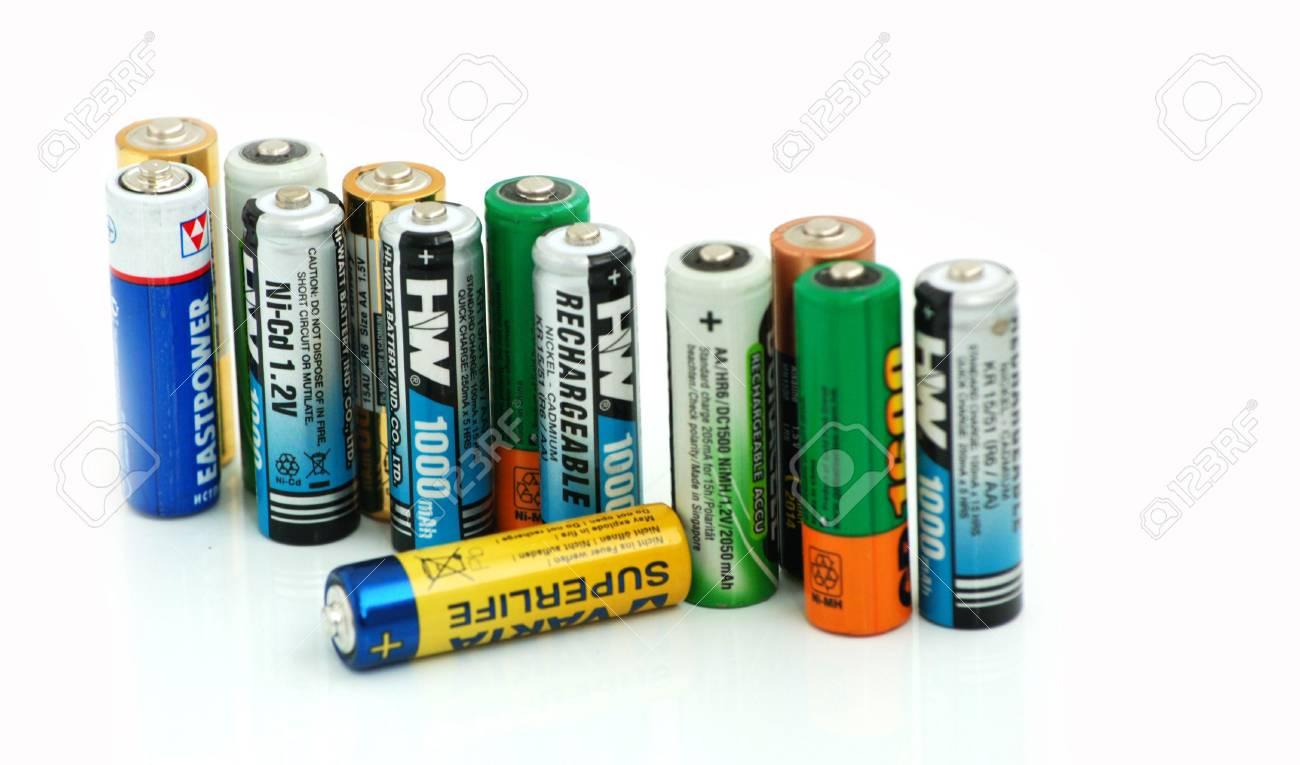 set of different rechargeable batterys (accumulators) Stock Photo - 5540252