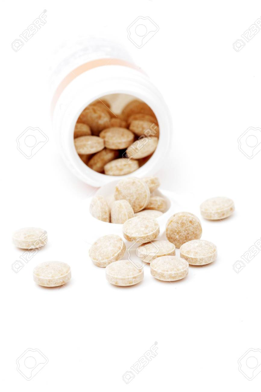 heap of pills isolated on the white background Stock Photo - 8026444