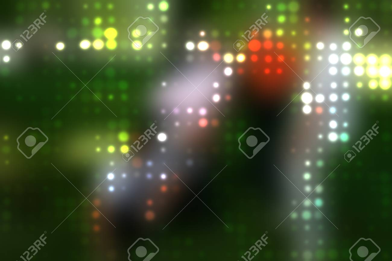 Dotted background of the colorful dots on the blured light Stock Photo - 10493753