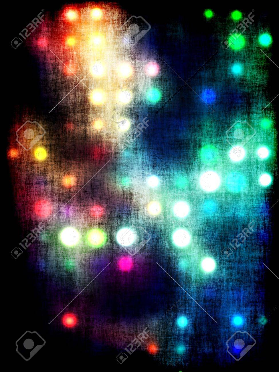 grungy dotted blurred background of colored lights Stock Photo - 11278010