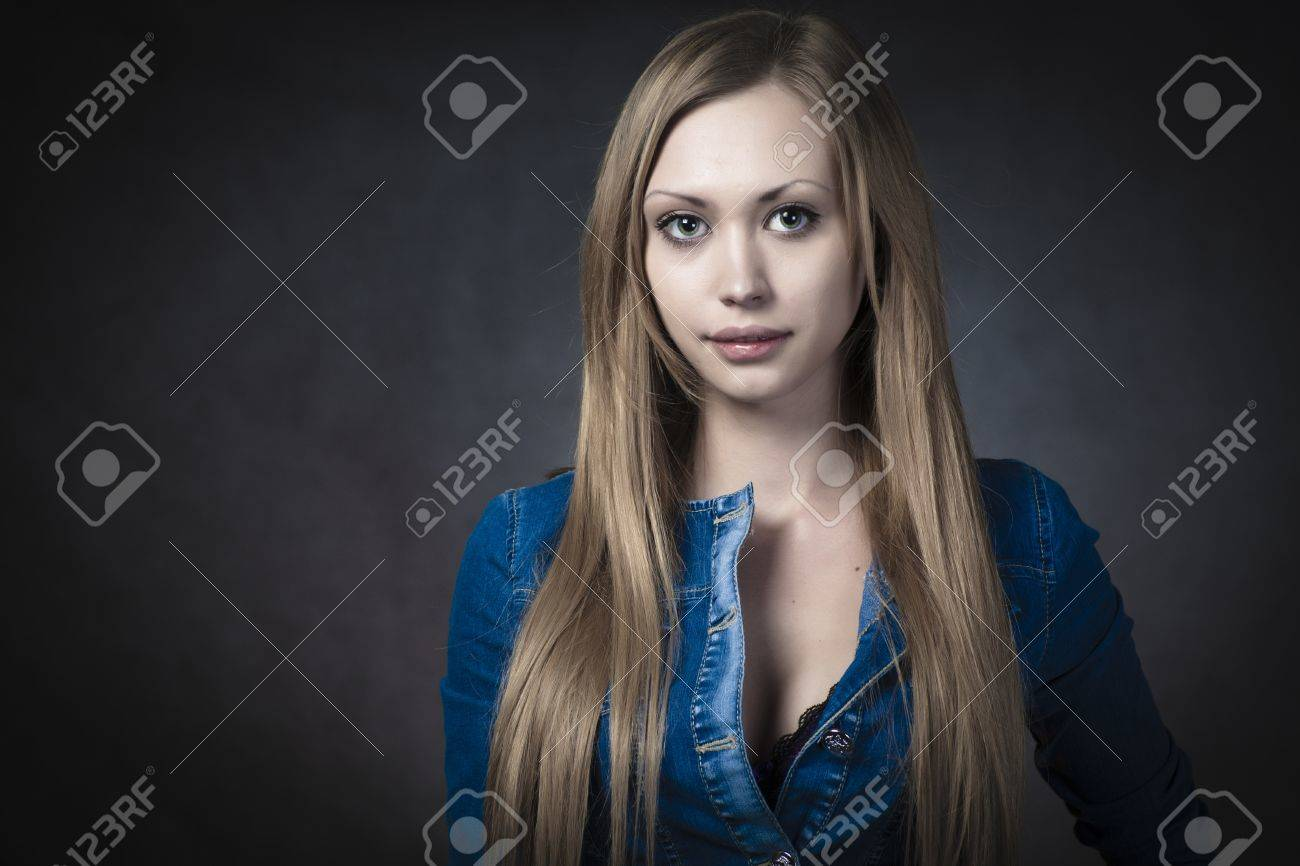 young blonde wearing jeans shorts Stock Photo - 12666247
