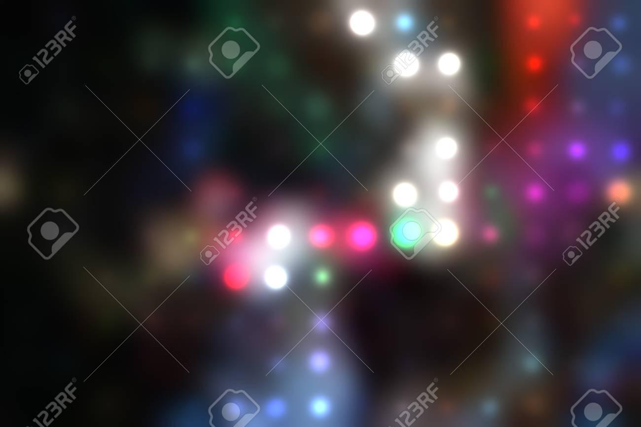 illustration of blurred neon disco light dots pattern on dark background Stock Illustration - 12742132