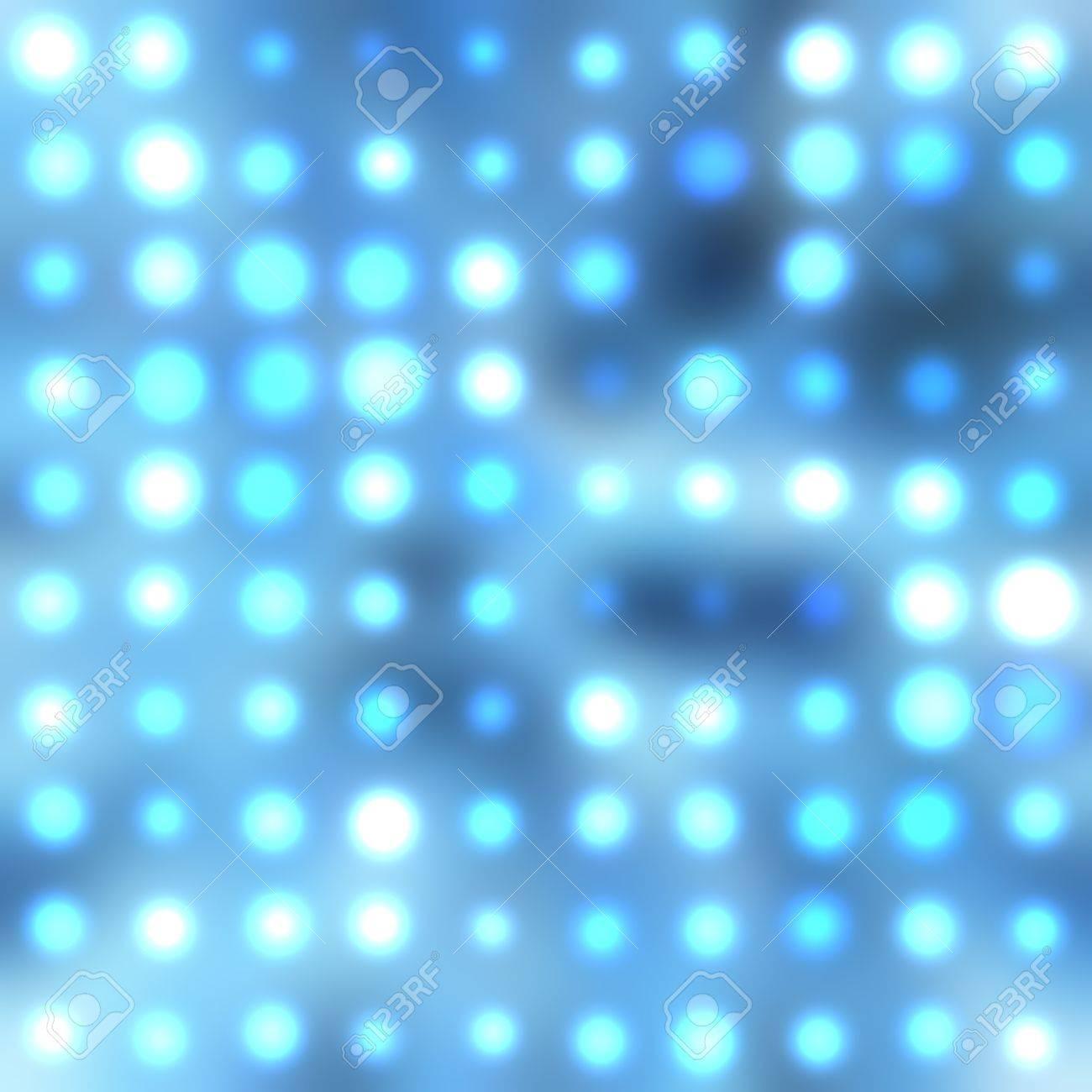 illustration of blurred neon disco light dots pattern on dark background Stock Illustration - 12857590