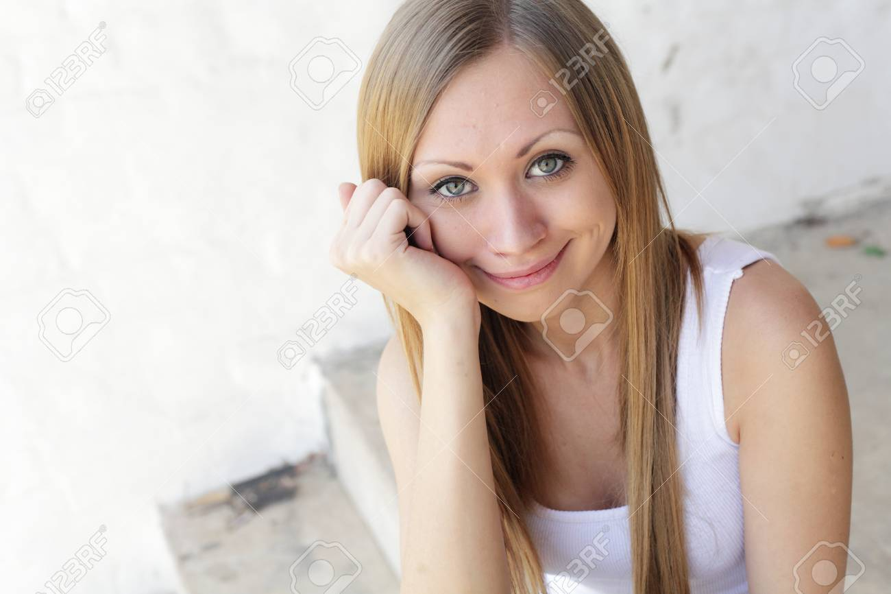 Beautiful young Woman making faces outdoors Stock Photo - 16139439