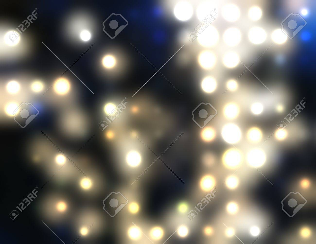 Abstract spots of lights Stock Vector - 16205340