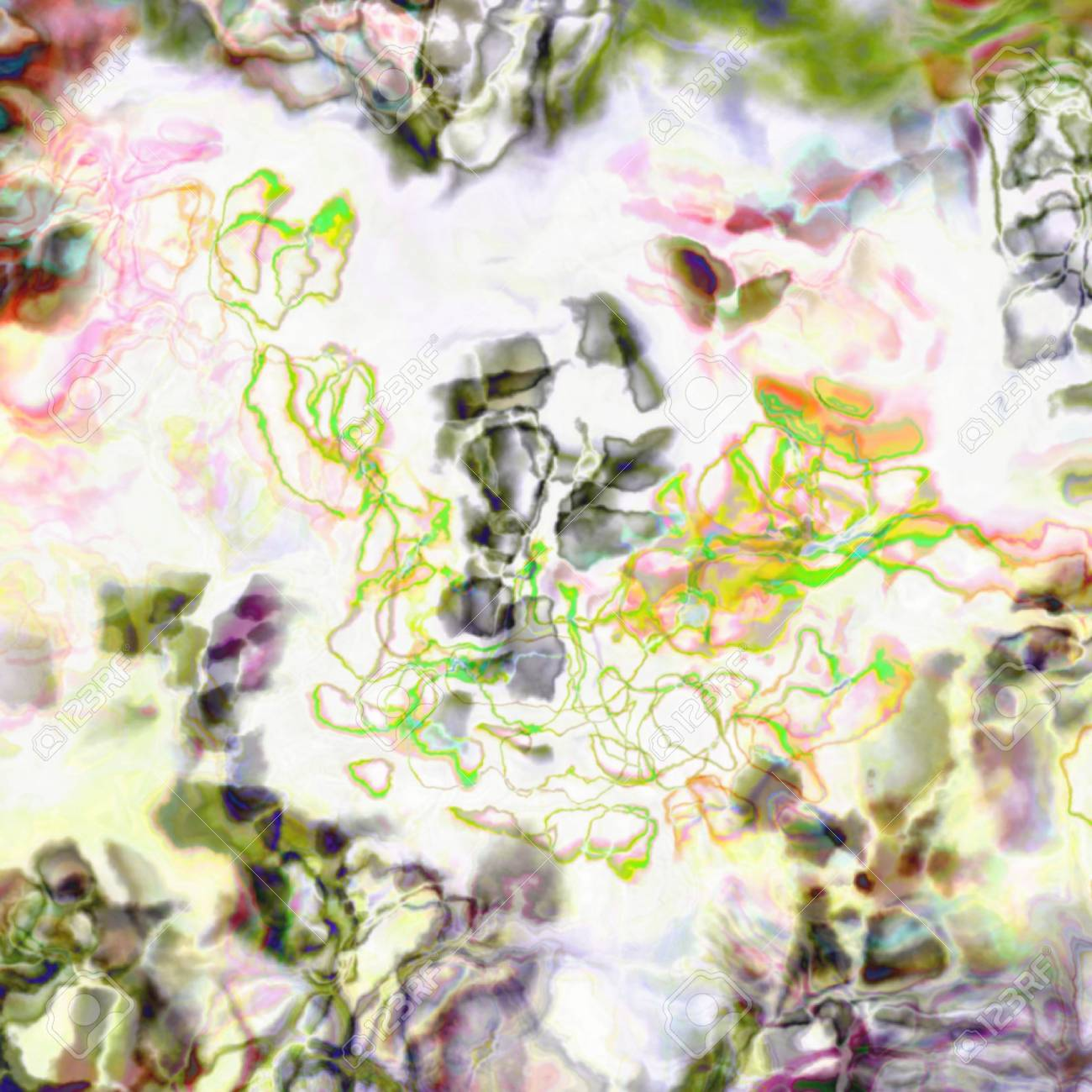 Abstract artistic Background forming by blots of paints Stock Photo - 17372034