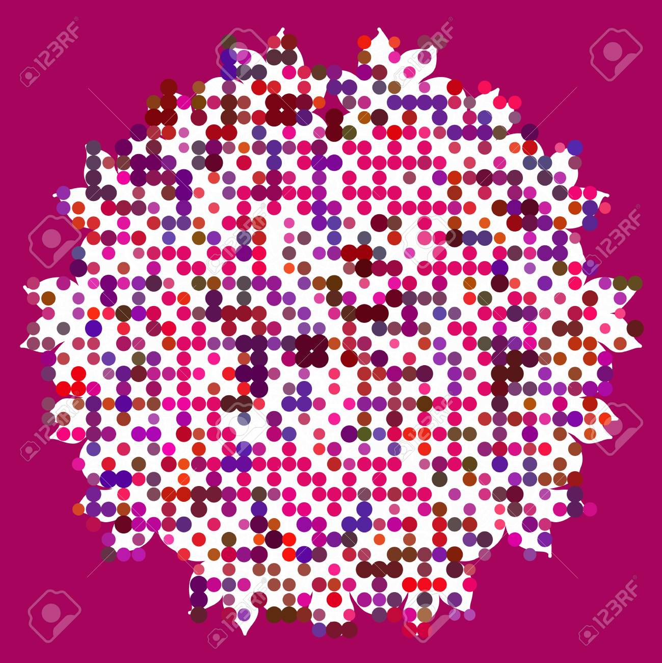 Vector seamless cracked multi colored pattern in red and pink Stock Vector - 18569088