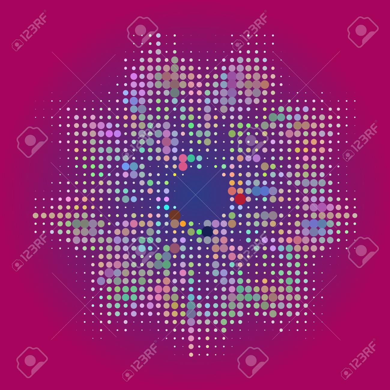 Vector seamless cracked multi colored pattern in red and pink Stock Vector - 18569073