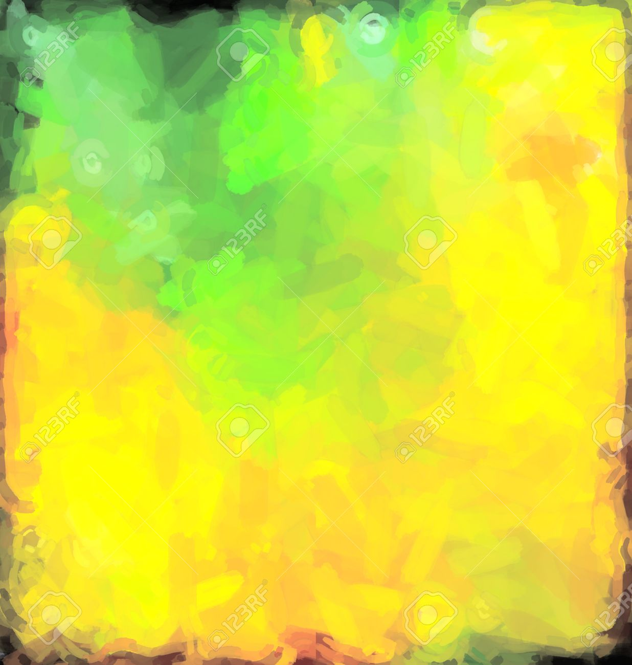 Green Yellow Abstract Watercolor Background Paper Design Of Bright ...
