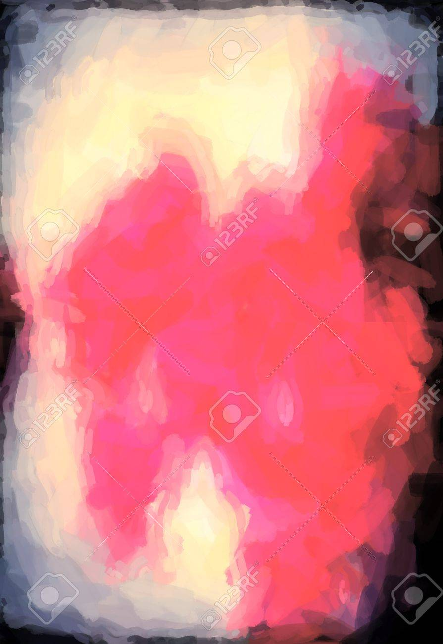 abstract Red watercolor background paper design of bright color splashes modern art painted canvas background texture atmosphere art. Pink watercolor painted paper texture background. Stock Photo - 18606489