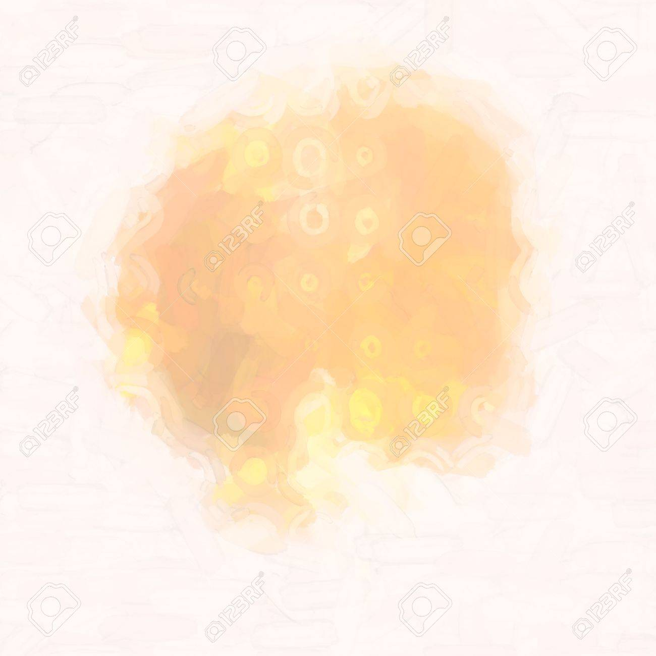abstract watercolor background paper design of bright color splashes in yellow red warm color , modern art painted canvas of old faded vintage grunge background texture atmosphere Stock Photo - 18636742