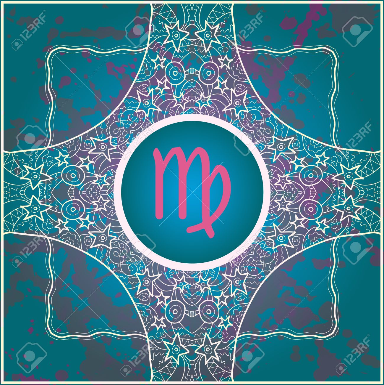 Zodiac Sign Virgo What Is Karma Vector Circle With Zodiac Signs