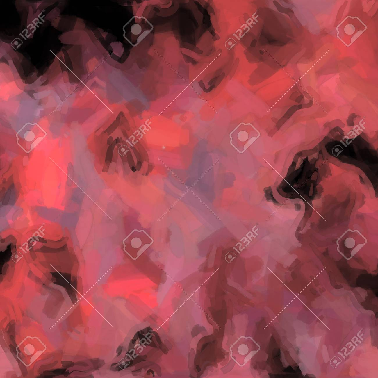 Waves colored in Red. Abstract background colored spots of light mixed in grunge surface Stock Photo - 18774648