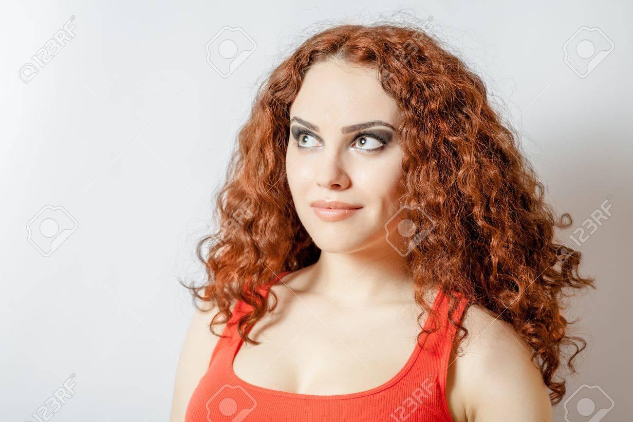 Brünett Amateur lockiges Haar Sehr sexy